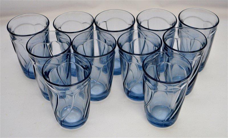 11 MIKASA ICE BLUE TUMBLERS - 3
