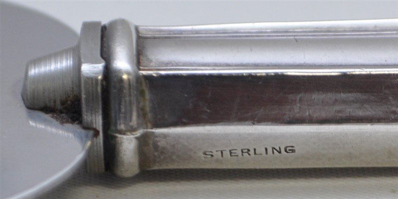 4 STERLING SILVER MUSTARD POT - CAKE COMB + - 10