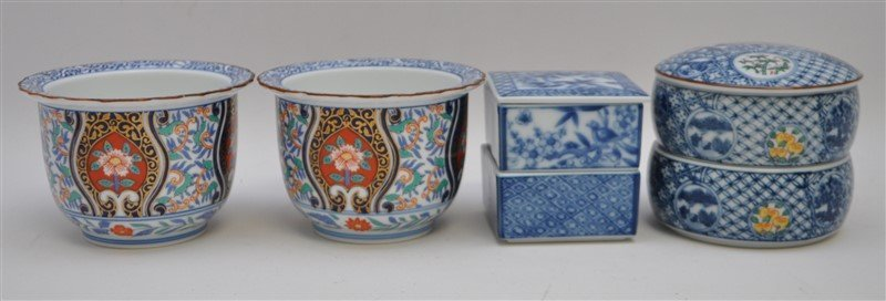 4 pc JAPANESE JUBAKO AND POTS