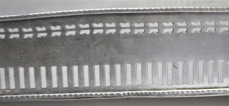 LARGE SILVER PLATE GALLERY TRAY - 2