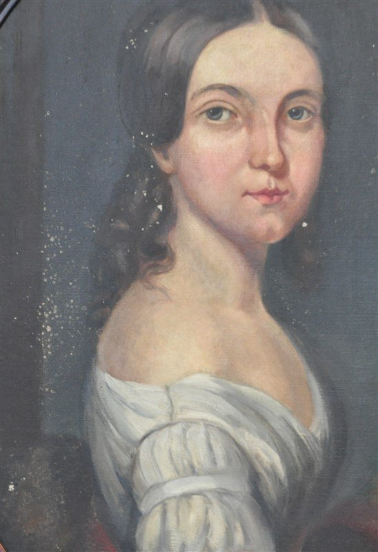 VTG PORTRAIT OF WOMAN IN OVAL FRAME - 5