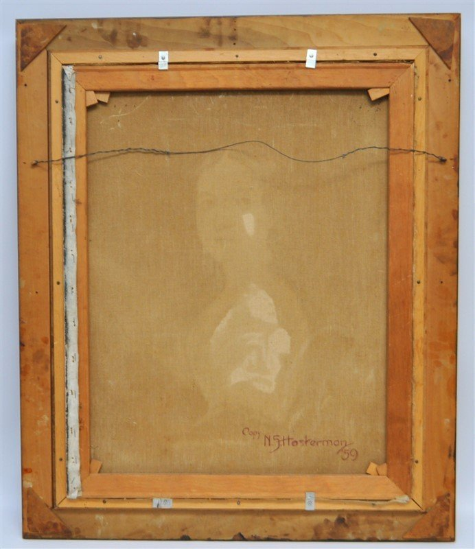 VTG PORTRAIT OF WOMAN IN OVAL FRAME - 7