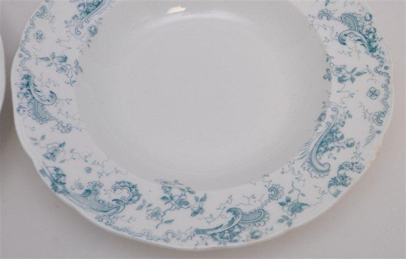 19th c. FLOW BLUE ORLEANS COUPE SOUPS - 2