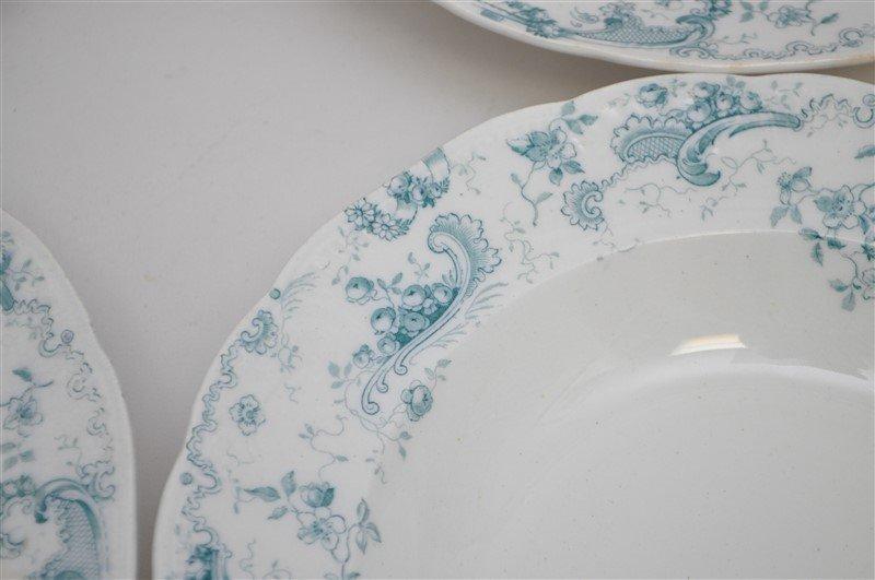 19th c. FLOW BLUE ORLEANS COUPE SOUPS - 3