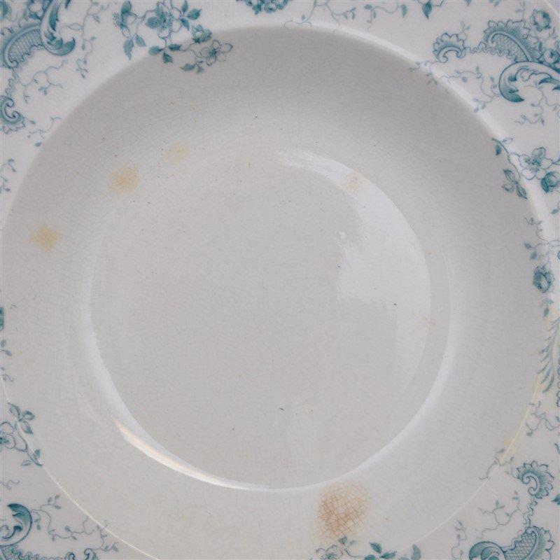 19th c. FLOW BLUE ORLEANS COUPE SOUPS - 4