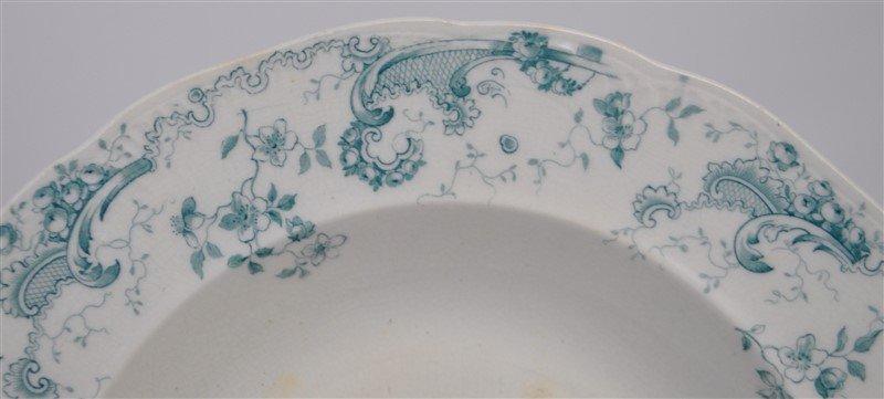 19th c. FLOW BLUE ORLEANS COUPE SOUPS - 5