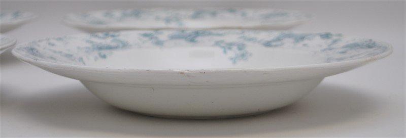 19th c. FLOW BLUE ORLEANS COUPE SOUPS - 6
