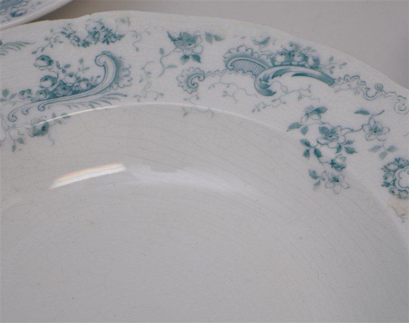 19th c. FLOW BLUE ORLEANS COUPE SOUPS - 7