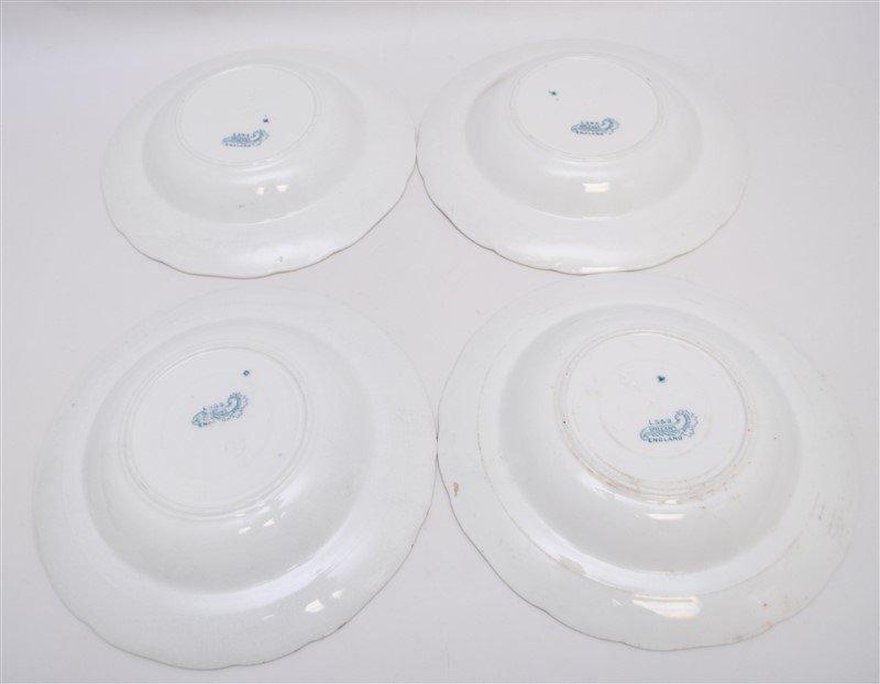 19th c. FLOW BLUE ORLEANS COUPE SOUPS - 8