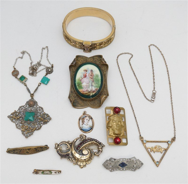 10 pc VICTORIAN / EDWARDIAN JEWELRY