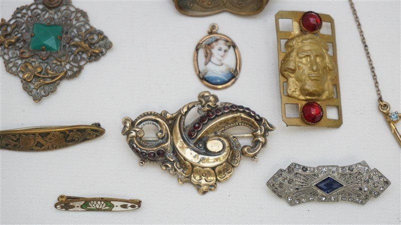 10 pc VICTORIAN / EDWARDIAN JEWELRY - 4