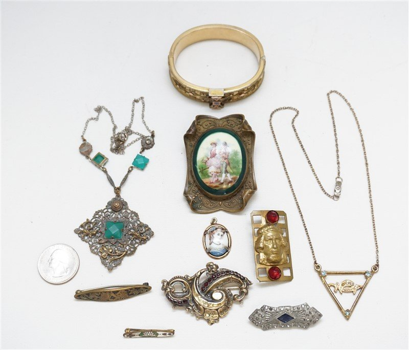 10 pc VICTORIAN / EDWARDIAN JEWELRY - 6