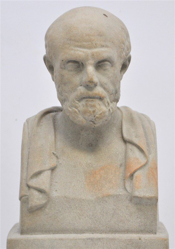 CLASSICAL GRECIAN BUST SOCRATES ON PLINTH - 2