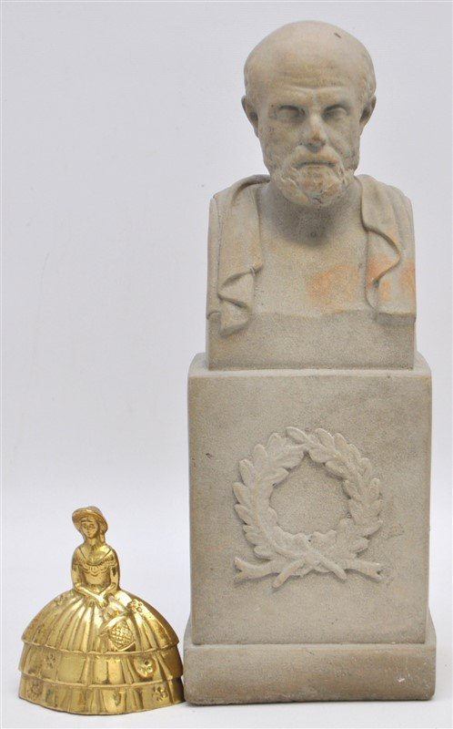CLASSICAL GRECIAN BUST SOCRATES ON PLINTH - 8