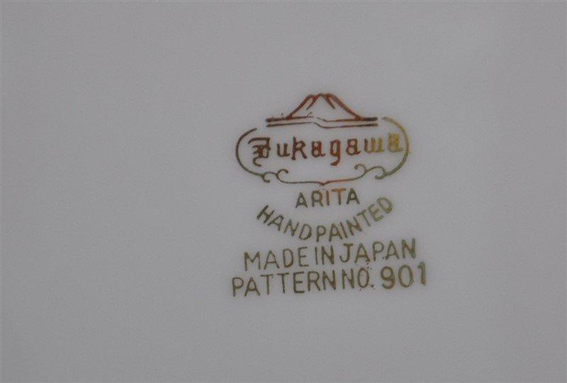 78 PC MID CENTURY ARITA GOLD BAMBOO DINNERWARE - 6