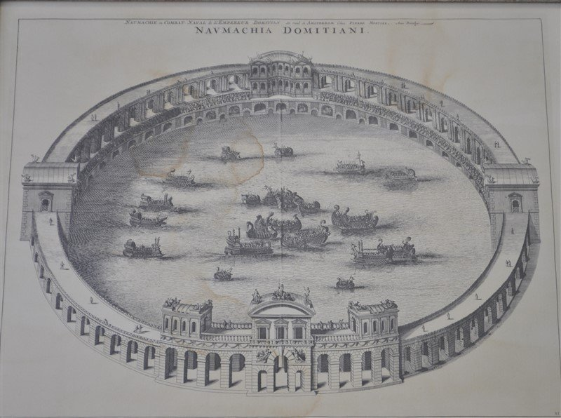 NAUMACHIA DOMITIANI 18th c FRENCH ETCHING - 4