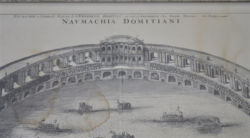 NAUMACHIA DOMITIANI 18th c FRENCH ETCHING - 5