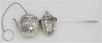 2 STERLING SILVER TEA INFUSERS