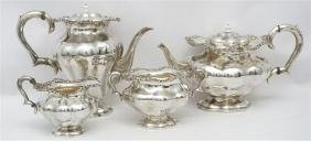 4 PC ITALIAN 800 SILVER COFFEE / TEA SERVICE