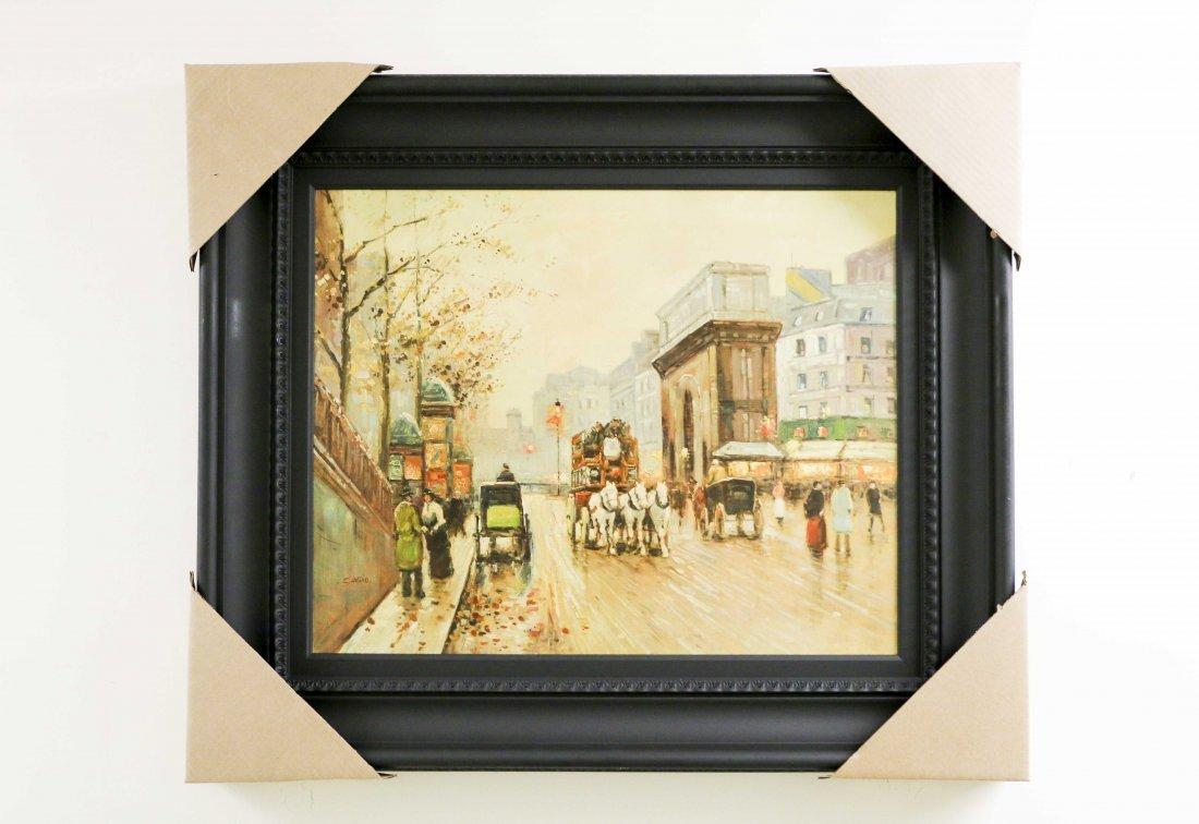 City Life Scenery Painting Signed by Artist: SaVino