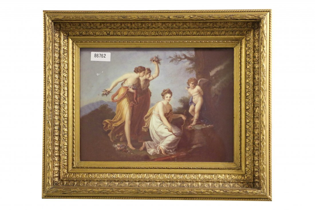 """Framed reproduction print of """"The Punishment of Cupid"""""""