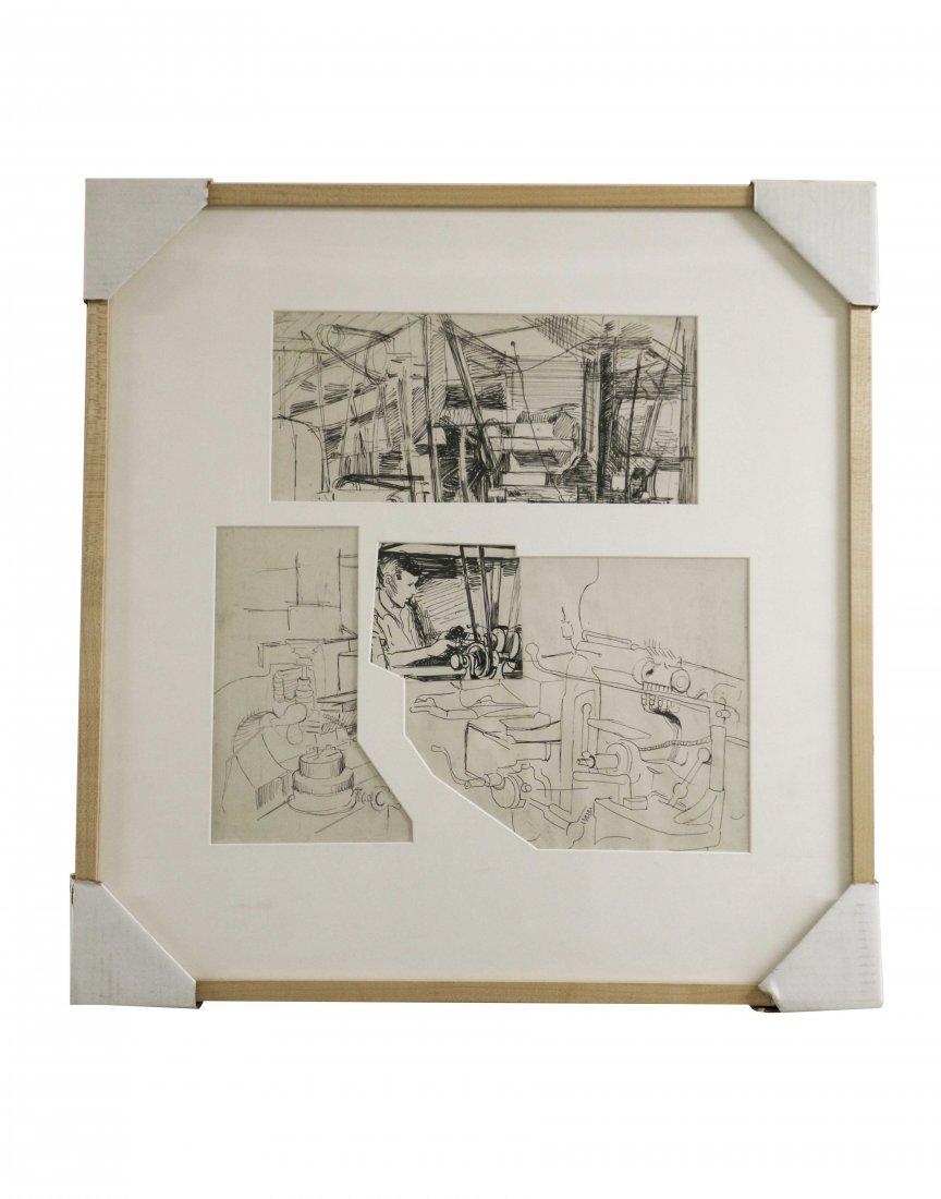 Edith Kramer, signed 1943, Set of Illustrations (2