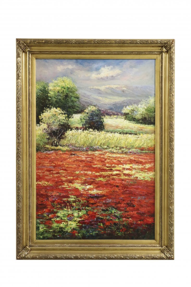 Landscape Scene painting Signed by Artist: Frank King