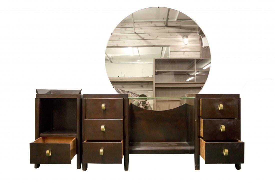Mid Century Modern Vanity with Nightstand