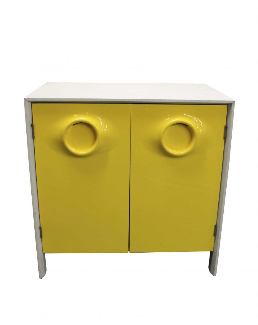 Yellow & White Plastic 2 Door Set