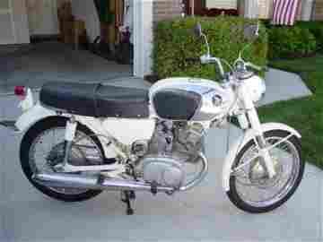 1: 1966 Honda Motorcycle 160cc