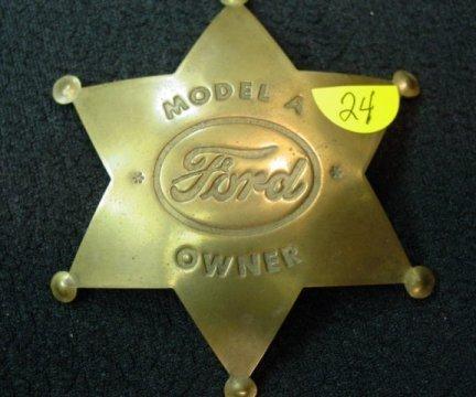 24: Ford Model A Owner Badge
