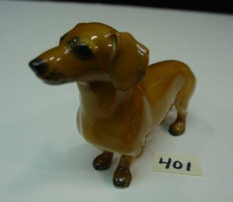 401: Rosenthal Dachshund Porcelain Figurine.