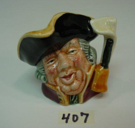 407: Royal Doulton Jug Town Crier Porcelain