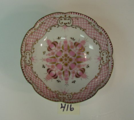 416: Austria Enamel Nut Dish Hand Made