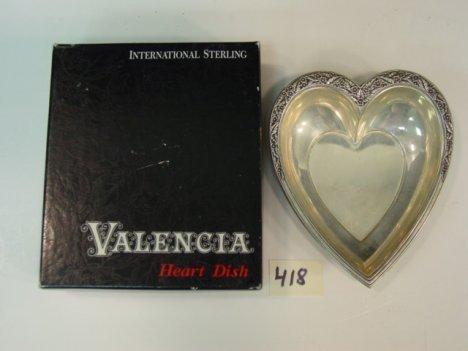 418: Sterling Heart Dish International Valencia