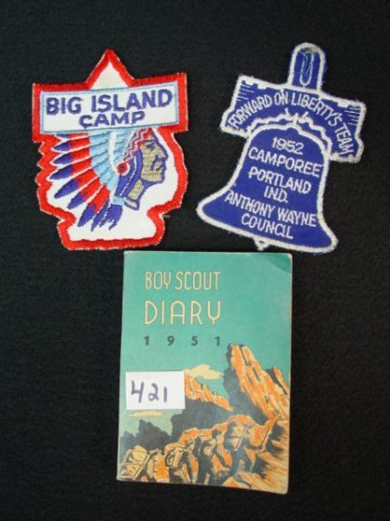 421: BOY SCOUT 1951 Diary Patch Scouts