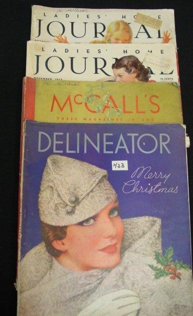 423: 1930 Ladies Fashion Magazine Ads