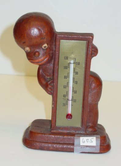 605:Americana Black Vintage Thermometer Child