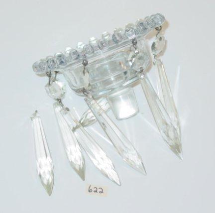 622: Glass Imperial Candlewick Bobeche w Prisms - 2