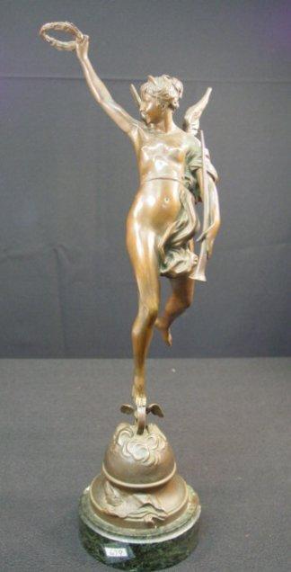 679: Vintage Bronze Nude Statue by Manuela