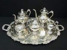 701: Vintage Silver Chased Teapot Set