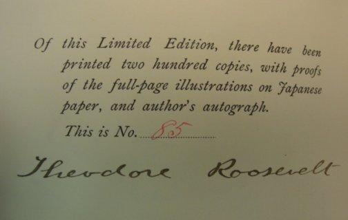 704:Autographed Rare Teddy Roosevelt Book