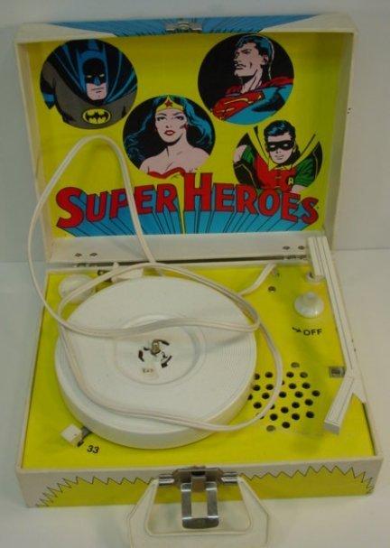 820: DC Comics  Superheroes Record Player