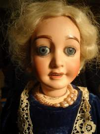 """18\""""  French Bisque Headed Doll"""