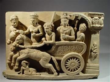 Ancient Greek Ghandaran Schist-Stone sculpture 200 AD