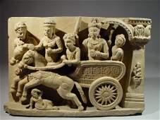 Ancient Greek Ghandaran Schist-Stone sculpture 200