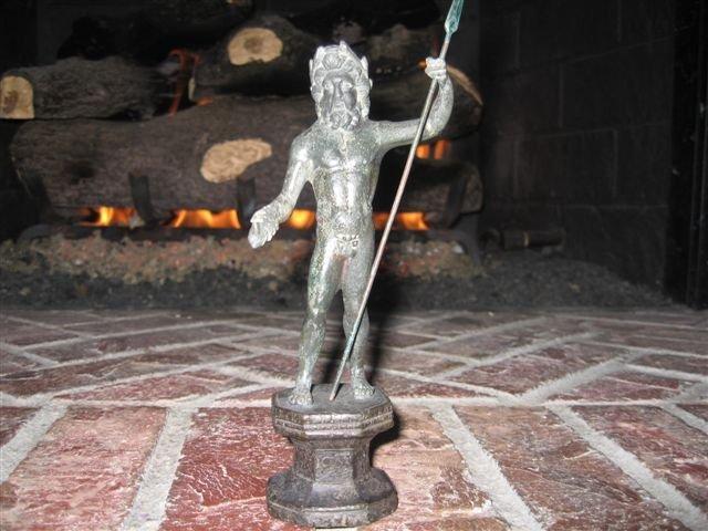 Roman Bronze Jupiter Statue with Thunderbolt 200 AD
