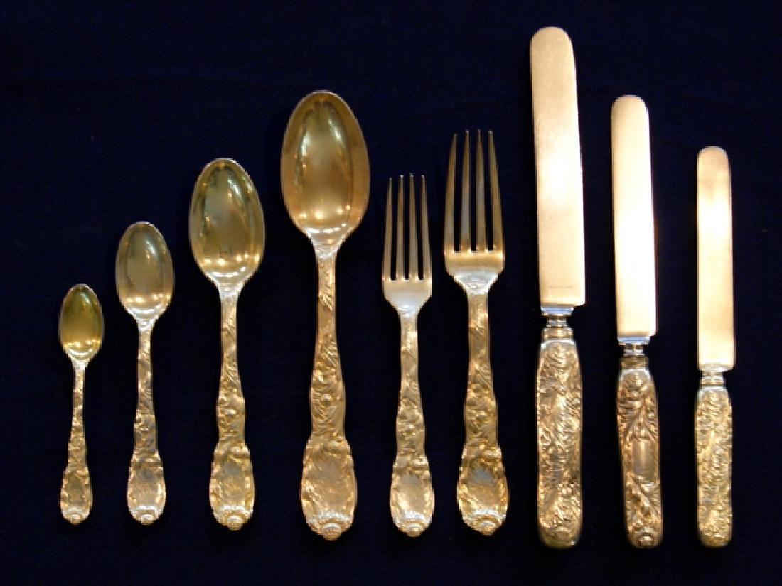 Tiffany Sterling Chrysanthemum Flatware 95 Pieces