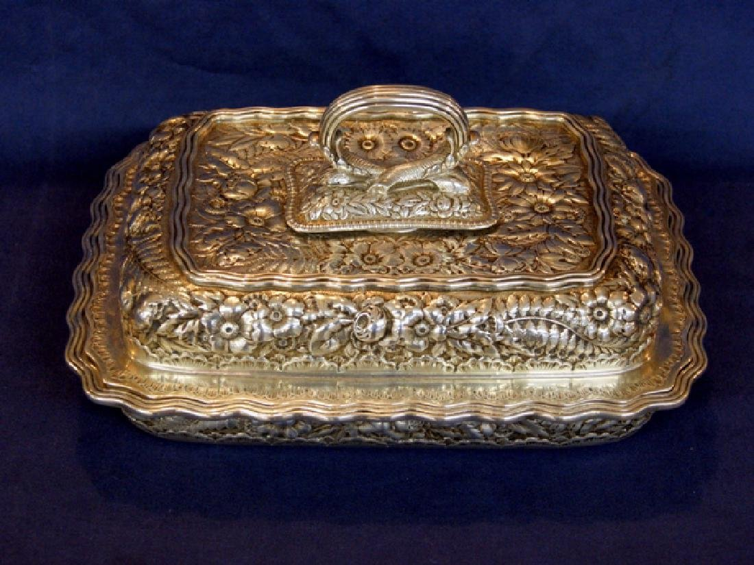 Tiffany Sterling Repousse Covered Vegetable Dish