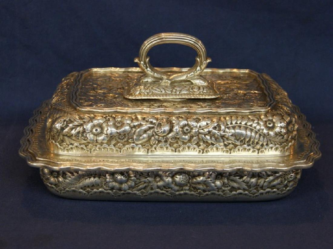 Tiffany Sterling Repousse Covered Vegetable Dish - 2